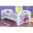 Bērnu gulta ar noņemamu maliņu un matraci HAPPY 1 A