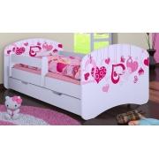 Bērnu gulta ar noņemamu maliņu un