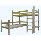 L formas divstāvu koka gulta STL 90 x 200