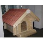 Suņu būda Lielā ar dakstiņu jumtu