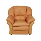 Ādas atpūtas krēsls Intars 1