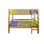 Divstāvu koka gulta ST 90x200