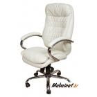 Vadītāju krēsls Malibu PU Chrome Ivory
